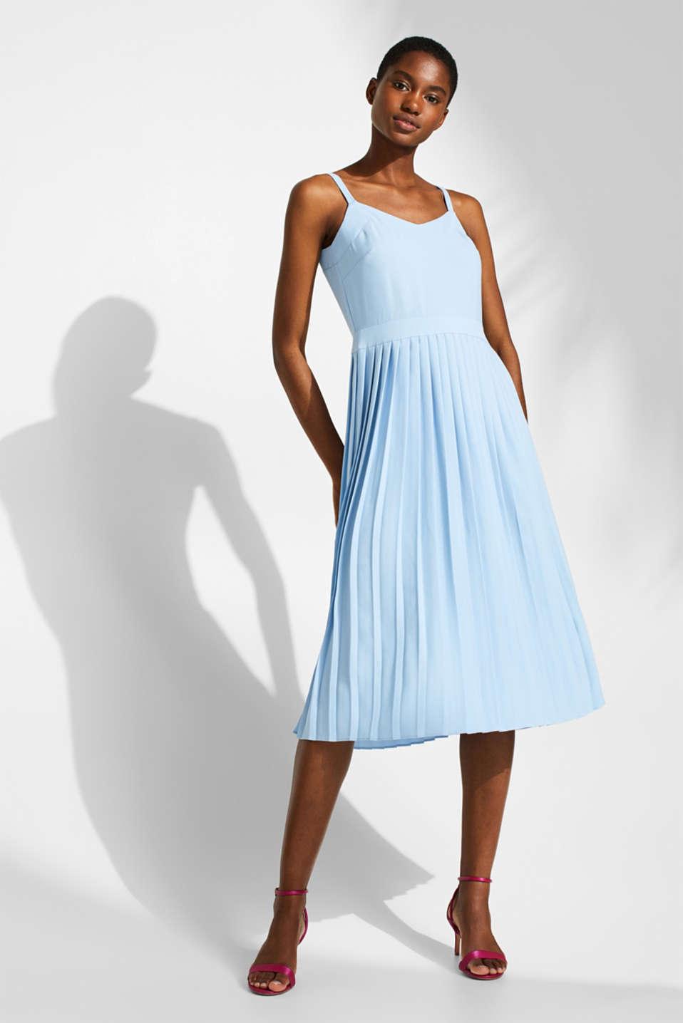 Dresses light woven, LIGHT BLUE, detail image number 1