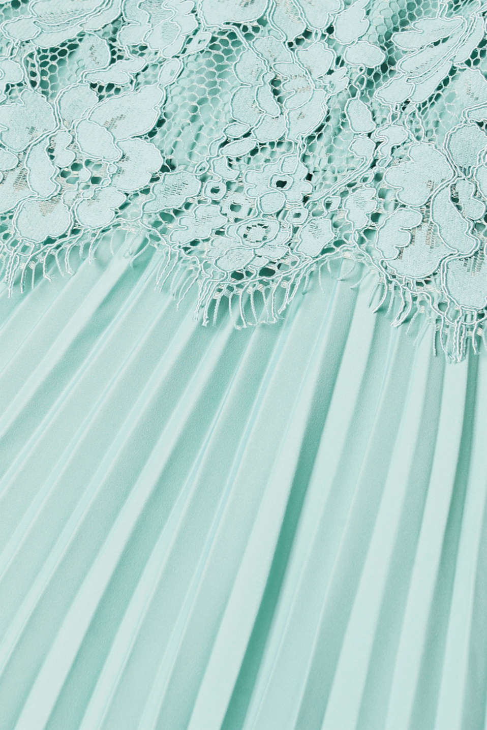 Layered dress with a lace top and pleated skirt, DUSTY GREEN, detail image number 3