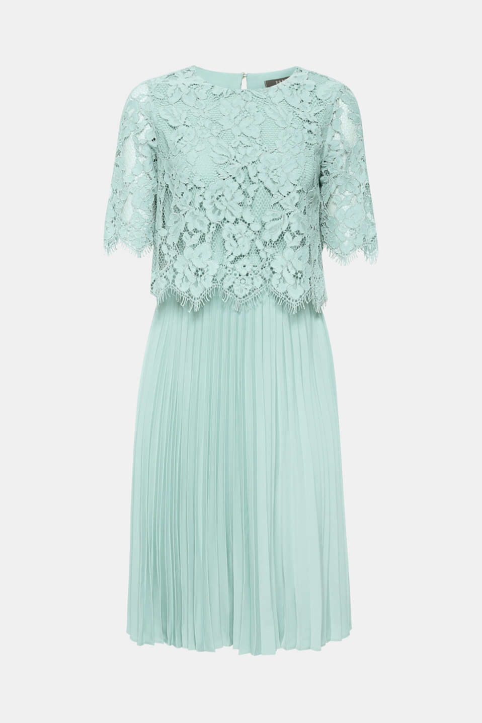 Layered dress with a lace top and pleated skirt, DUSTY GREEN, detail image number 6