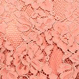 Layered dress with a lace top and pleated skirt, SALMON, swatch
