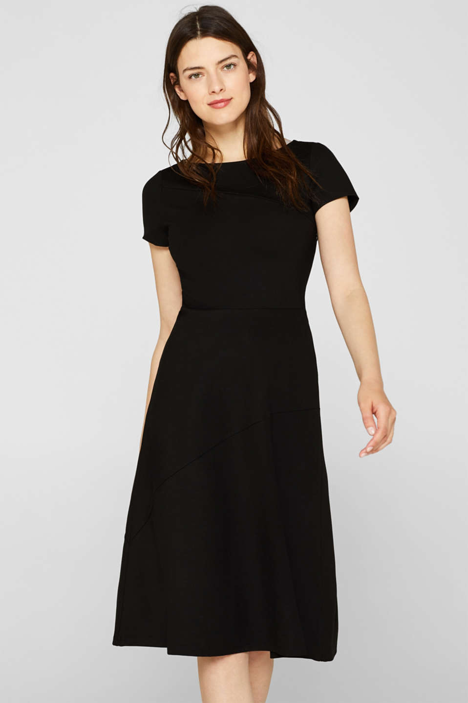 Jersey midi dress with stretch