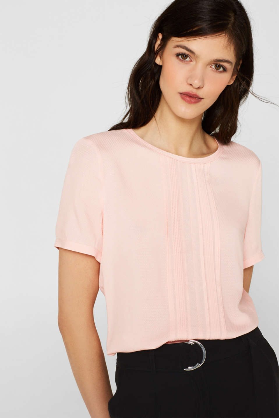 Esprit - Textured blouse with pintucks