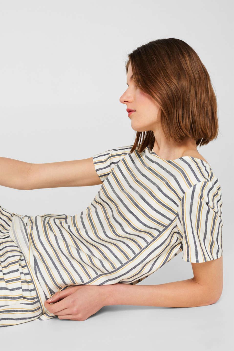 ceec4bd79387e4 Esprit - Striped blouse with a metal zip at our Online Shop