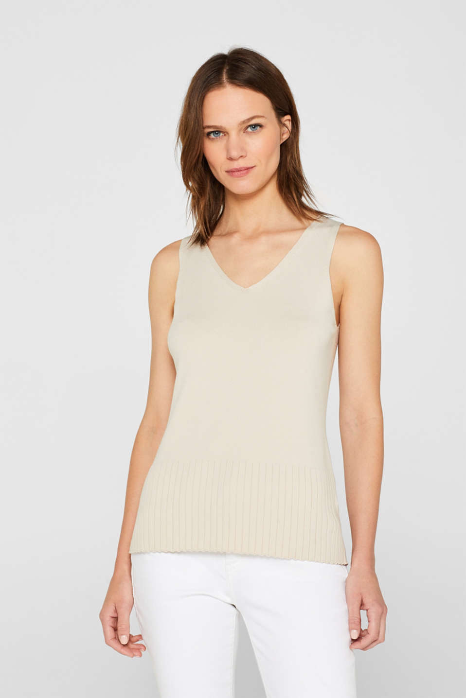 Sweaters, LIGHT BEIGE, detail image number 0