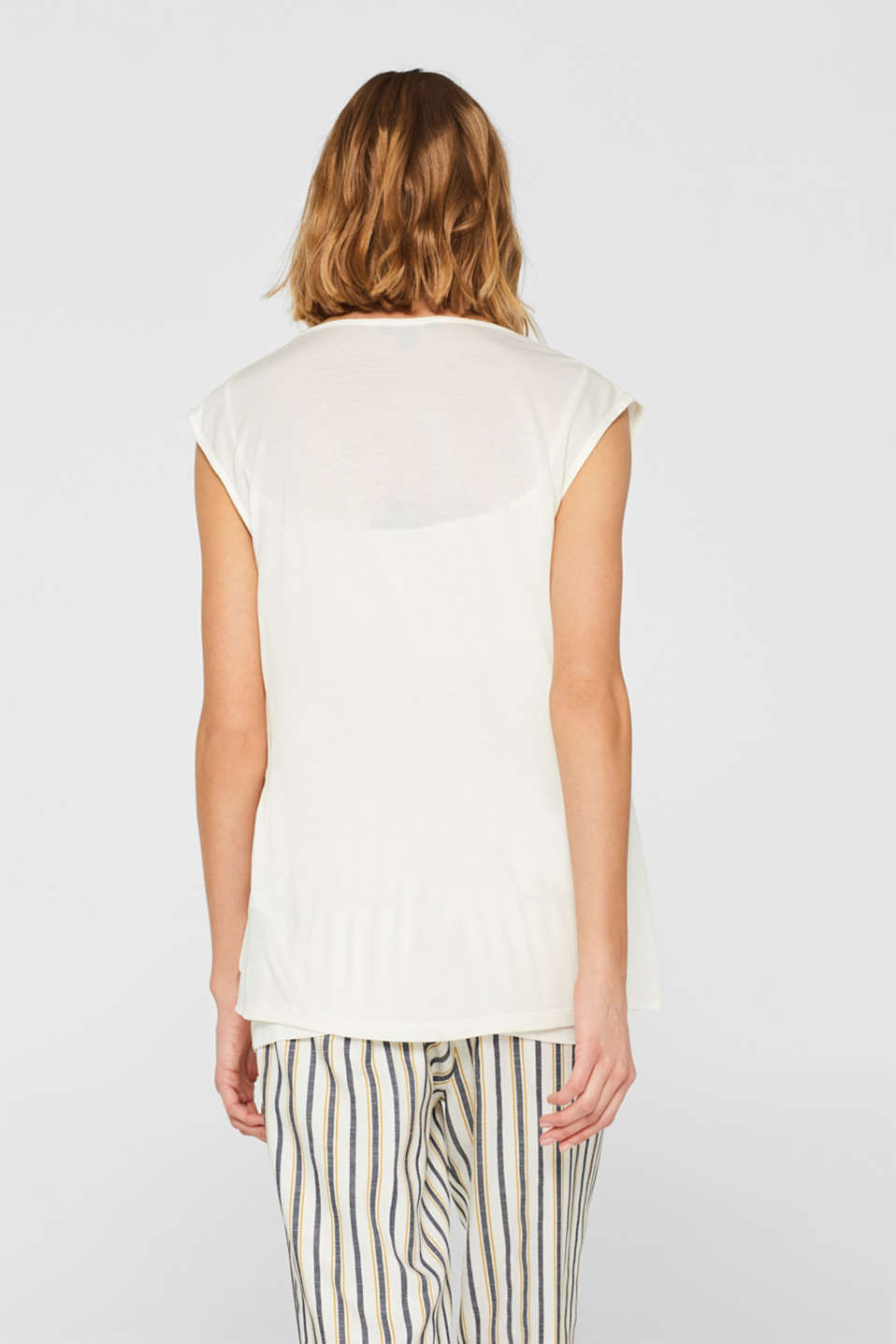 2-in-1 blouse top with wrap effect, OFF WHITE, detail image number 3