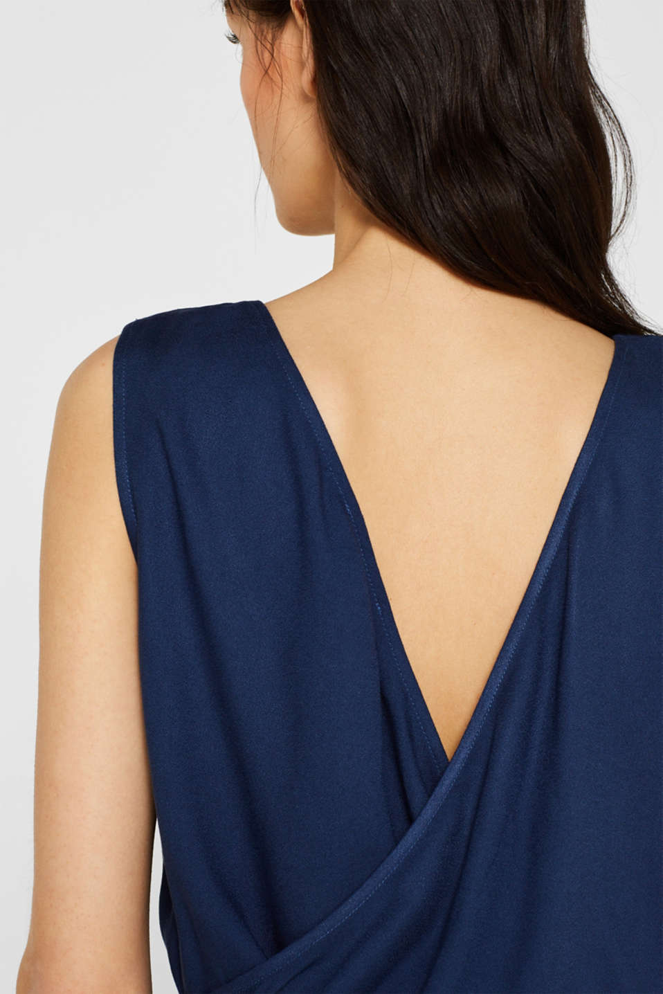 Jumpsuit with a wide leg and rear cut-out, NAVY, detail image number 2