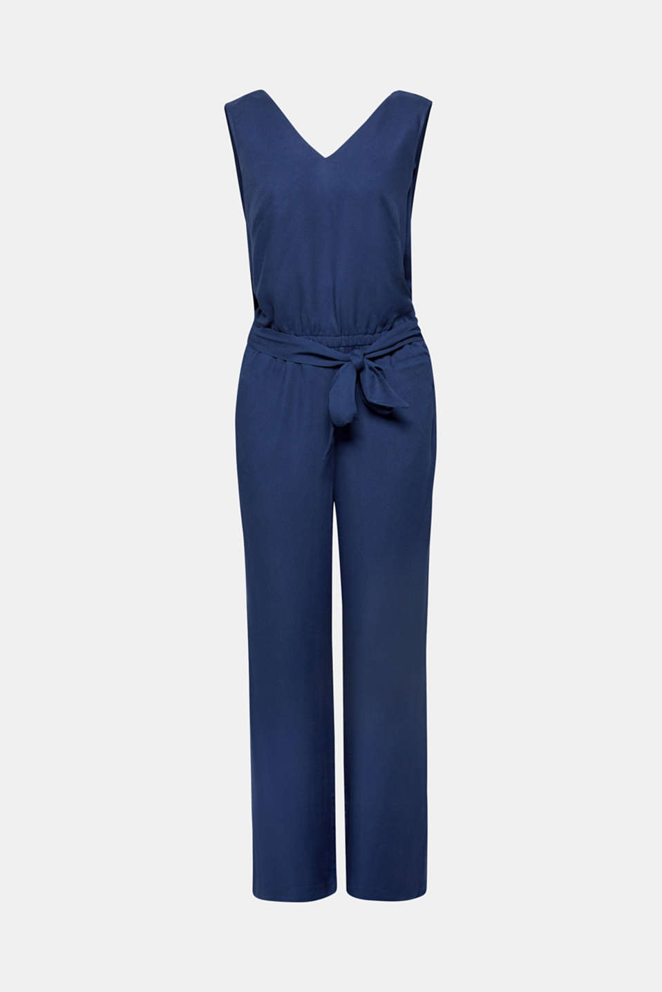 Jumpsuit with a wide leg and rear cut-out, NAVY, detail image number 6