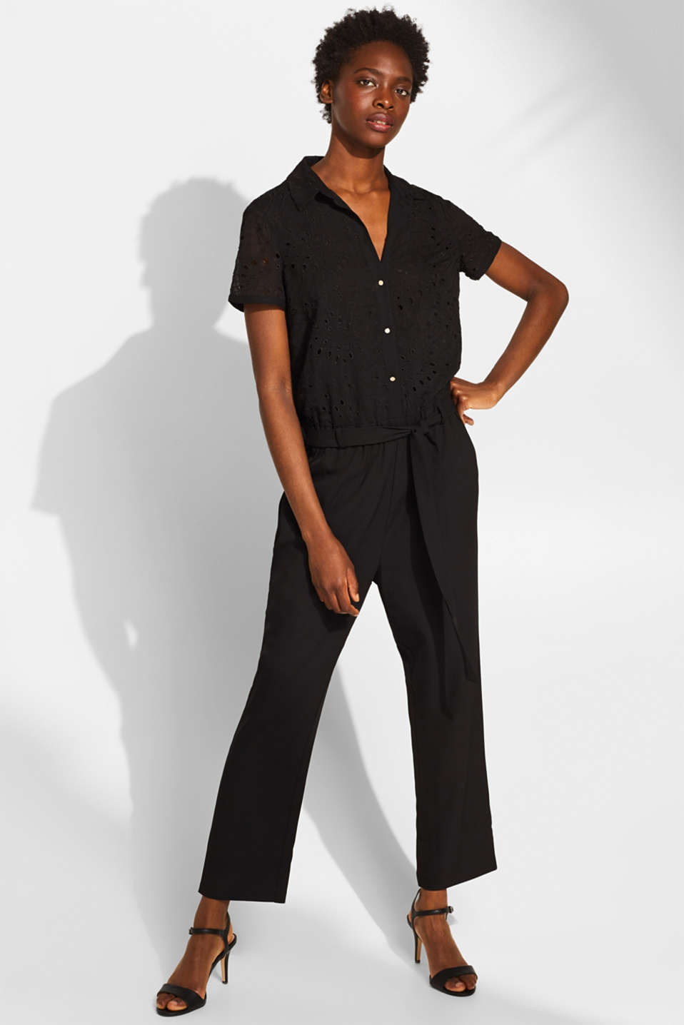 Overalls woven, BLACK, detail image number 0