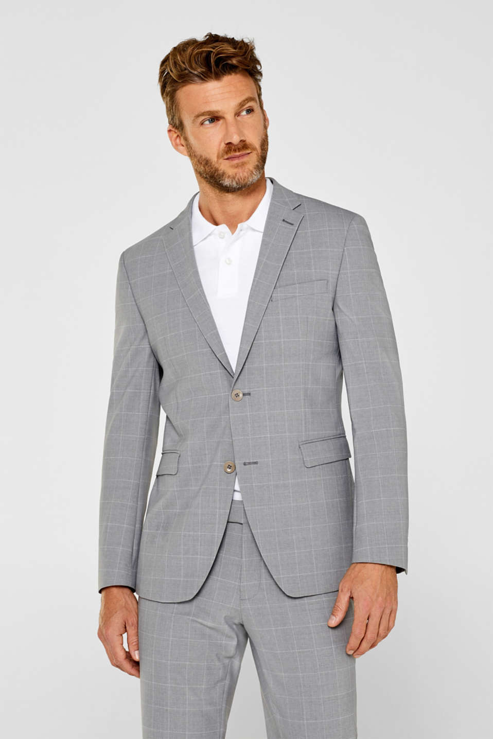 Esprit - ACTIVE SUIT mix + match: colbert met ruitdessin