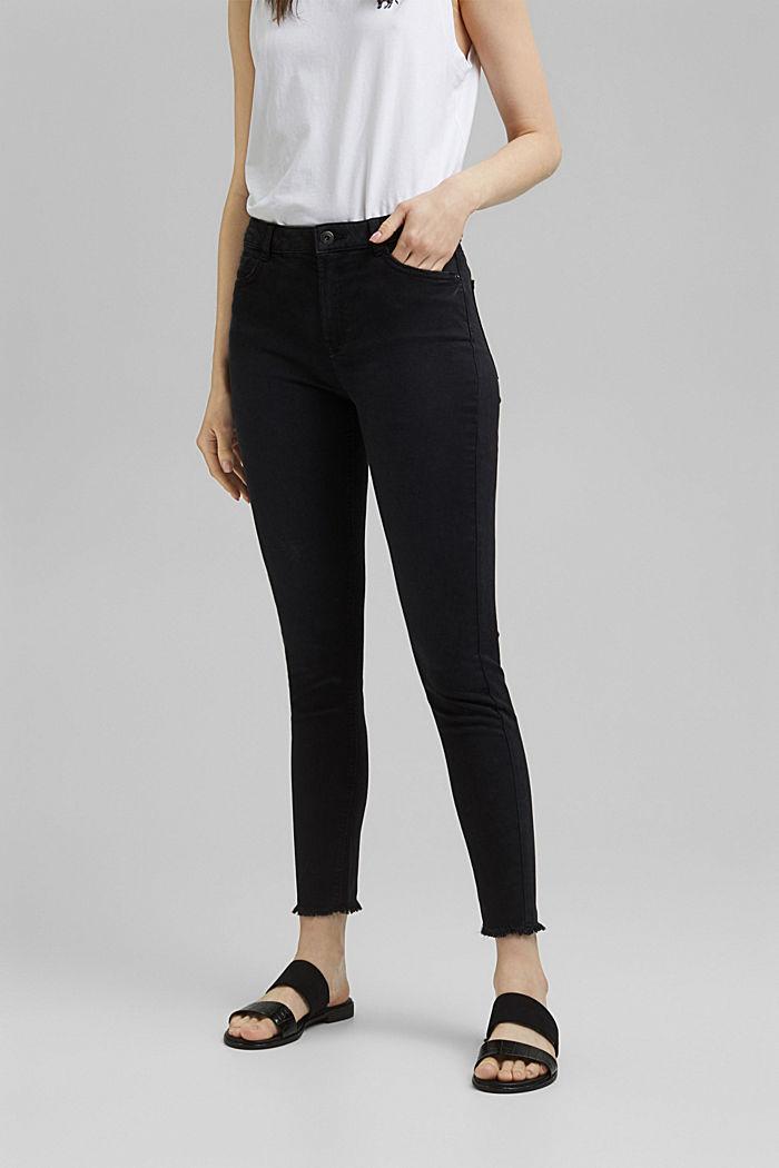 Knöchellange Stretch-Hose, BLACK, detail image number 0