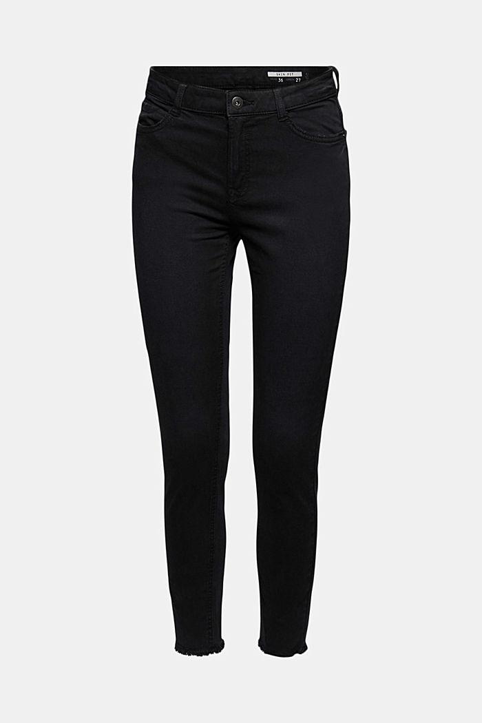 Knöchellange Stretch-Hose, BLACK, detail image number 7