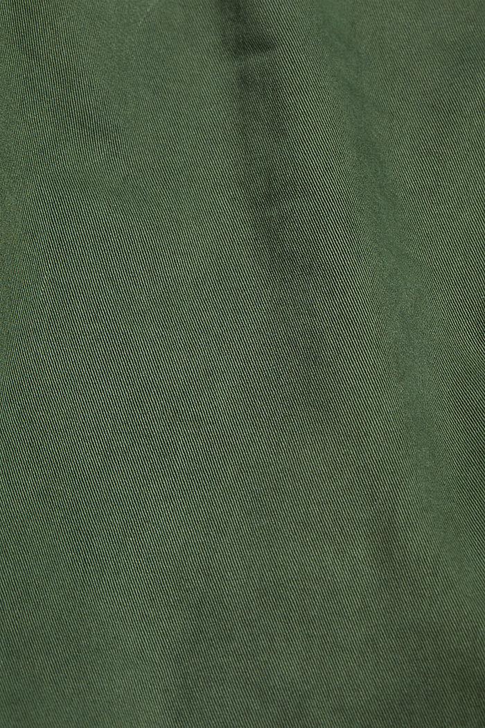 Knöchellange Stretch-Hose, KHAKI GREEN, detail image number 4