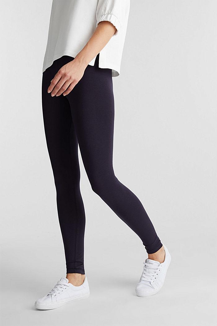 Legging met organic cotton, NAVY, detail image number 0