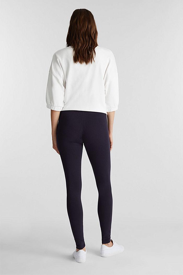 Legging met organic cotton, NAVY, detail image number 3