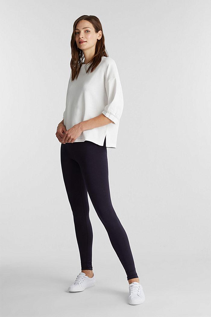 Legging met organic cotton, NAVY, detail image number 1
