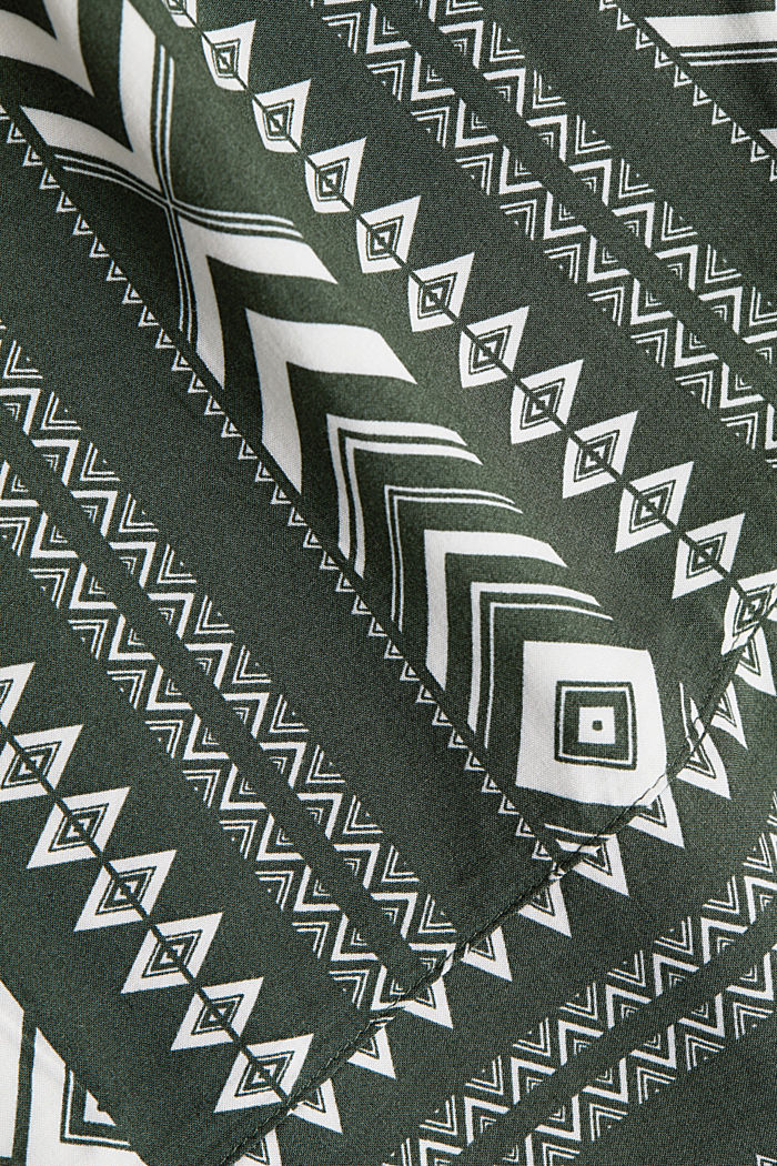 Wide trousers made of LENZING™ ECOVERO™, KHAKI GREEN, detail image number 4