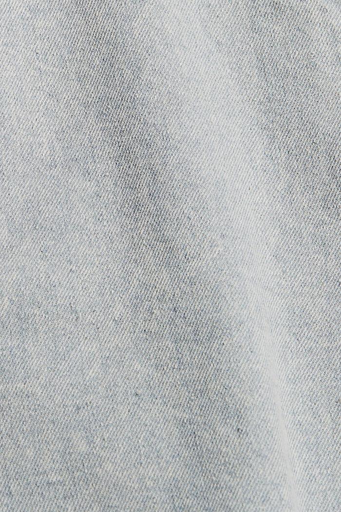 Korkeat, kulutetut farkkushortsit, BLUE LIGHT WASHED, detail image number 4