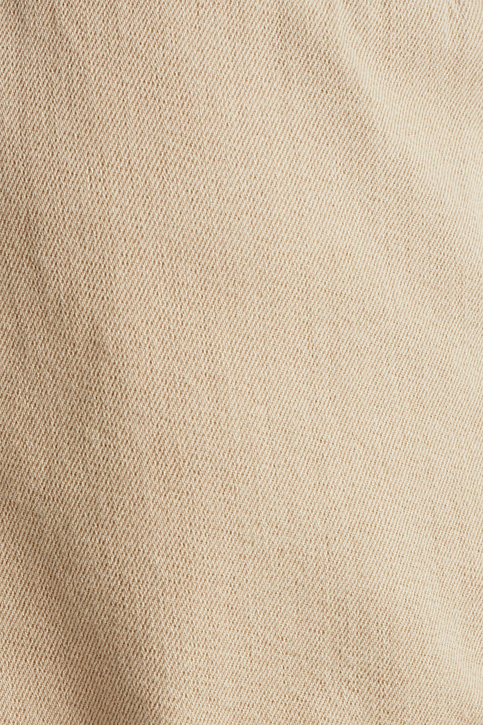 Woven shorts with linen and organic cotton, BEIGE, detail image number 4