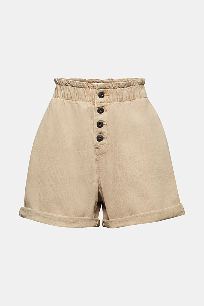 Woven shorts with linen and organic cotton