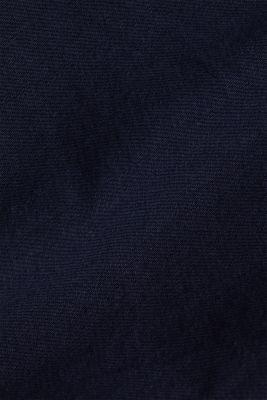 Woven shorts with linen and organic cotton, NAVY, detail