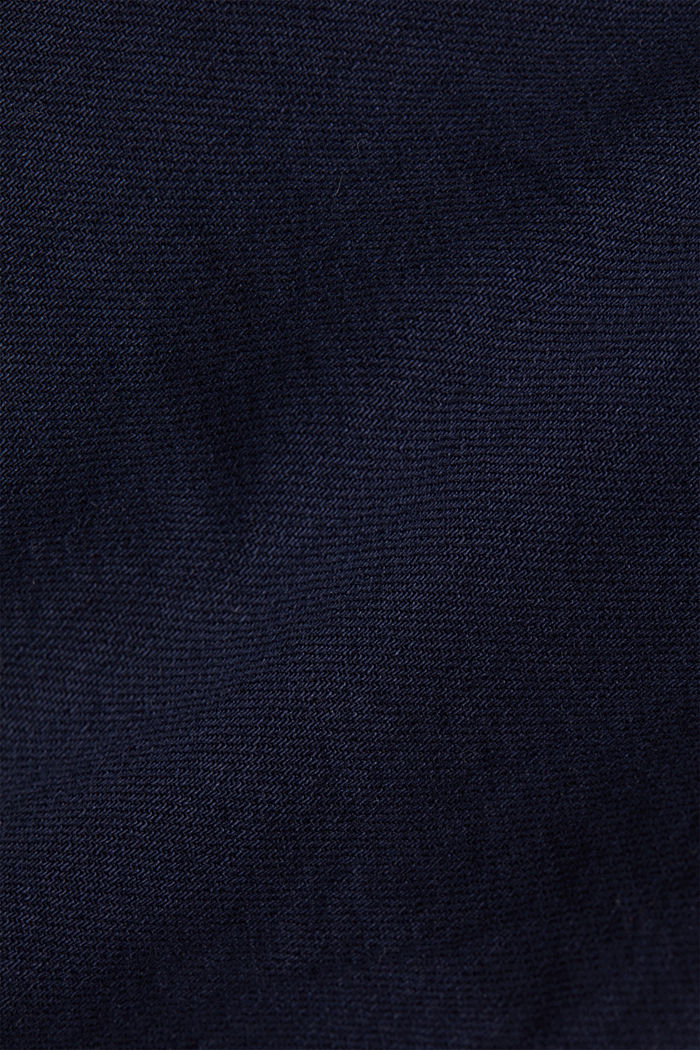 Woven shorts with linen and organic cotton, NAVY, detail image number 4