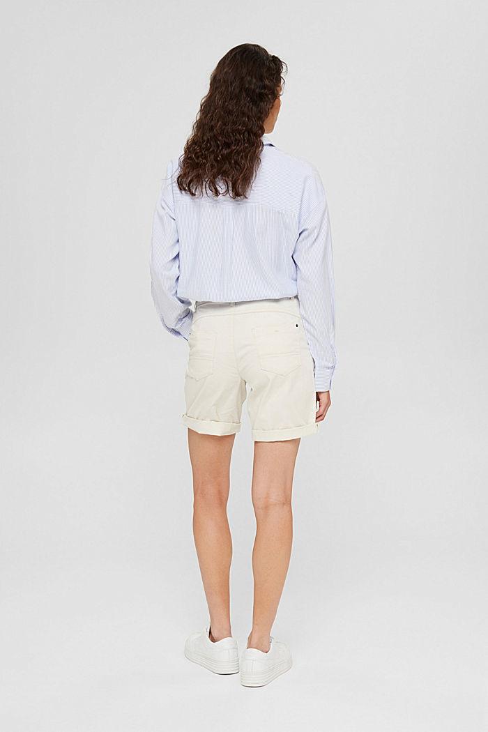 Bermuda-Shorts aus Baumwollstretch, OFF WHITE, detail image number 3