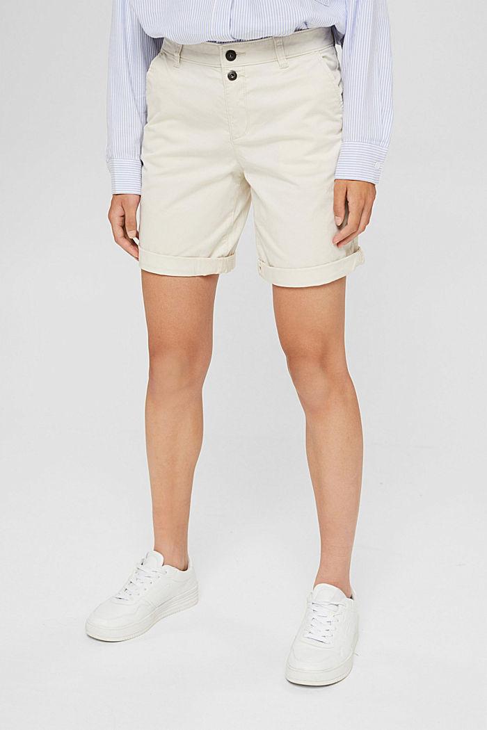 Bermuda-Shorts aus Baumwollstretch, OFF WHITE, detail image number 5