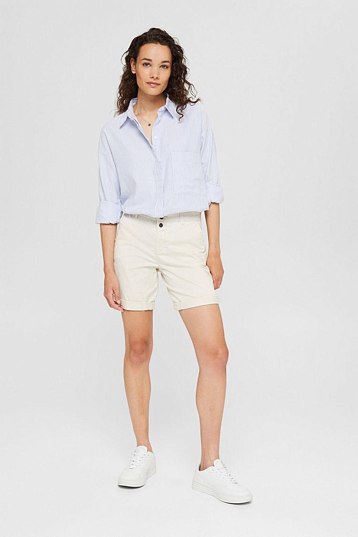 Bermuda-Shorts aus Baumwollstretch, OFF WHITE, detail image number 1