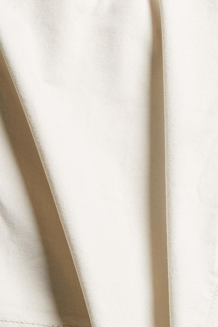Bermuda-Shorts aus Baumwollstretch, OFF WHITE, detail image number 4