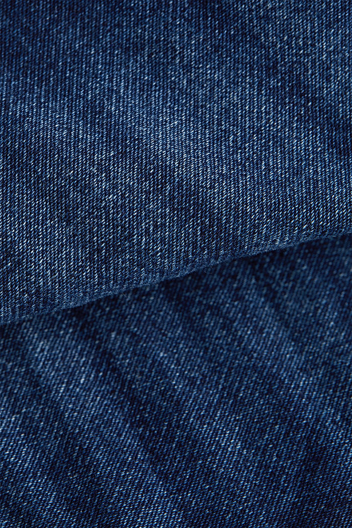 Stretch denim shorts, BLUE DARK WASHED, detail image number 4