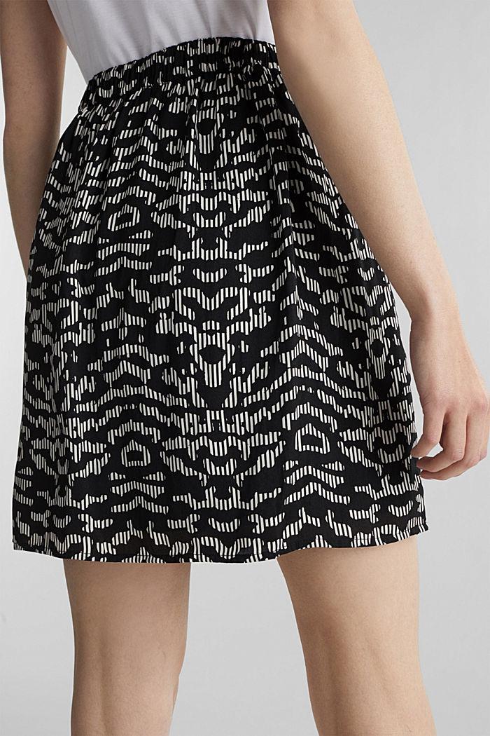 Vzorovaná sukně s pasem na gumu, BLACK, detail image number 2