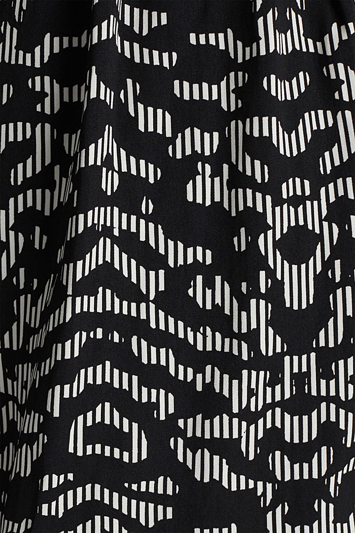 Patterned skirt with elasticated waistband, BLACK, detail image number 4