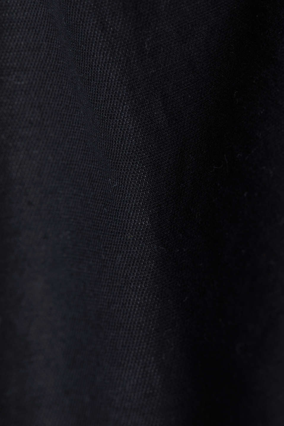 With linen: Skirt in a cotton blend, BLACK, detail image number 4