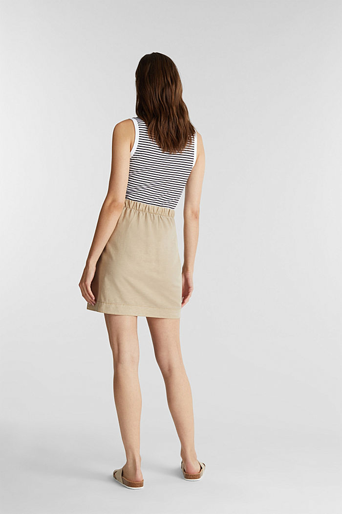 With linen: Skirt in a cotton blend, SAND, detail image number 3
