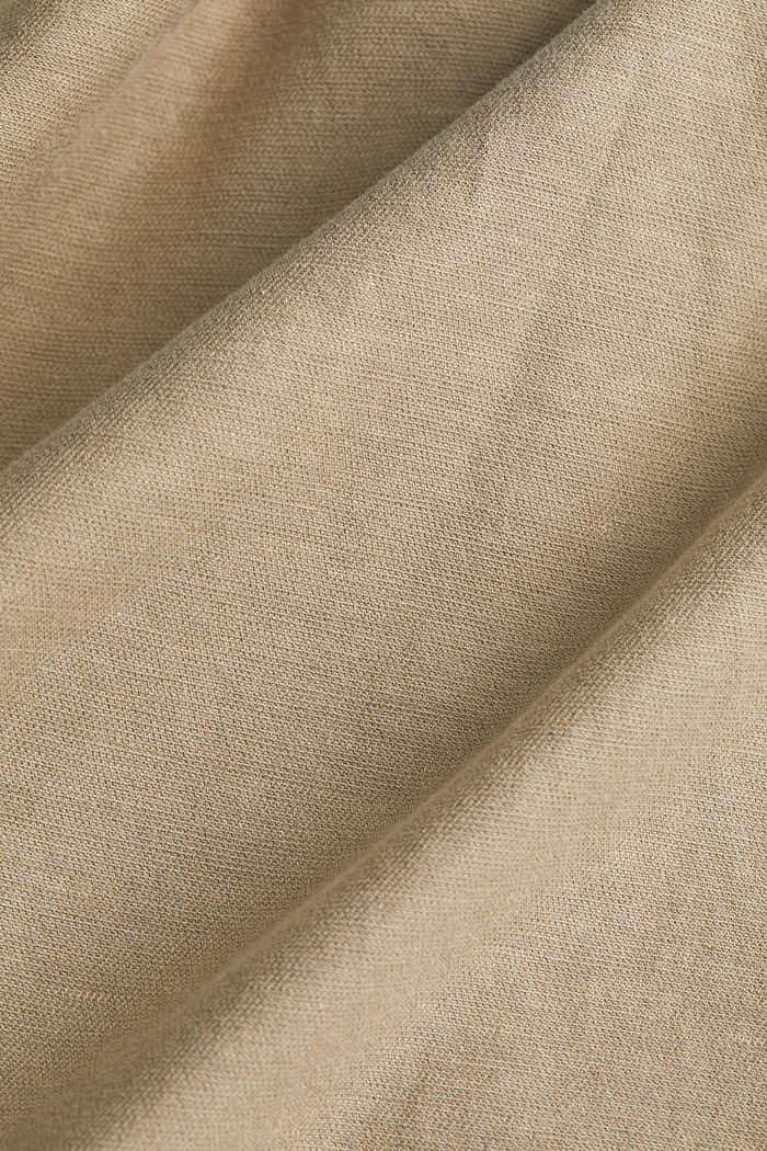 With linen: Skirt in a cotton blend, SAND, detail image number 4