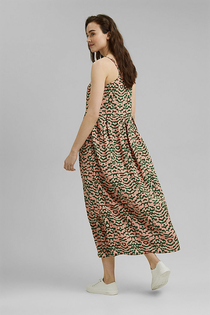 Midi-jurk met print, LENZING™ ECOVERO™, SALMON, detail image number 2
