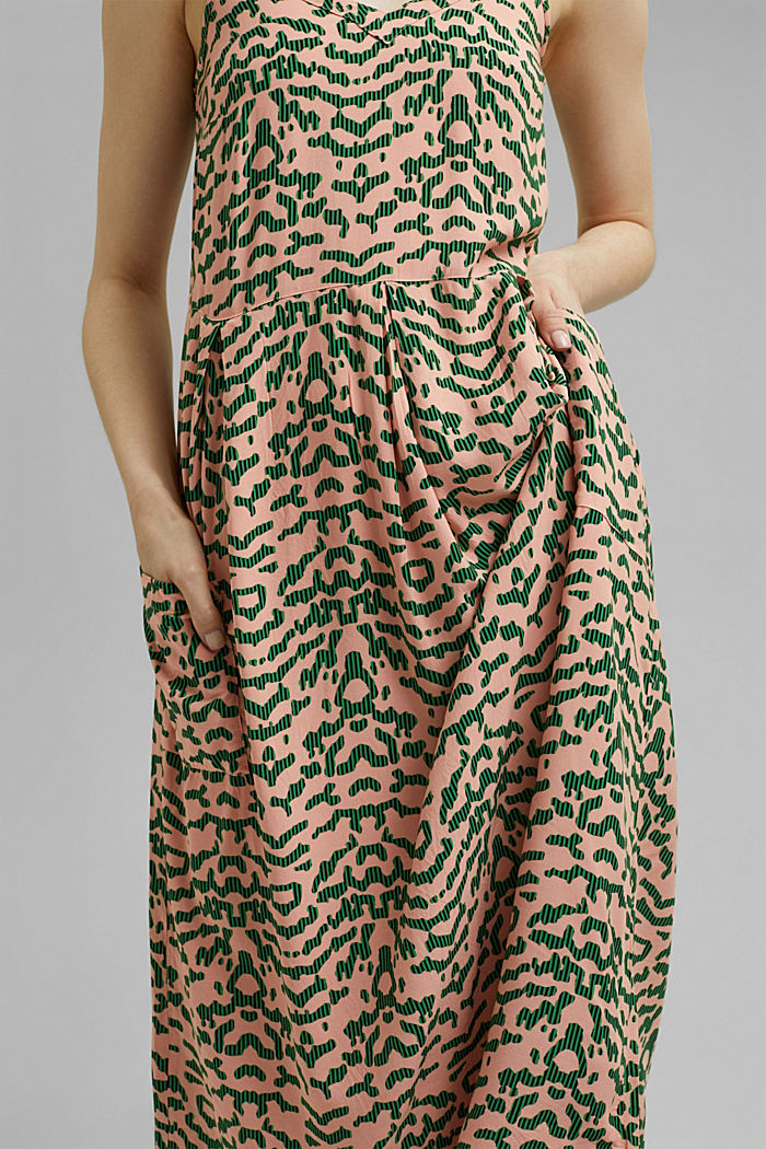 Midi-jurk met print, LENZING™ ECOVERO™, SALMON, detail image number 5