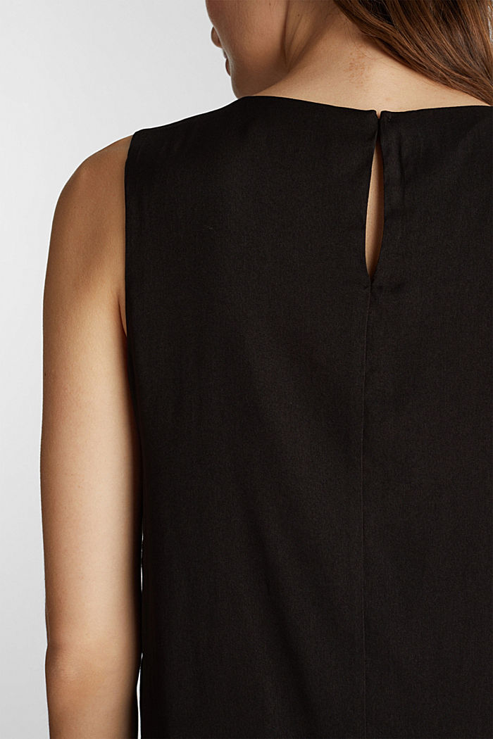 Woven dress with a flounce hem, BLACK, detail image number 3