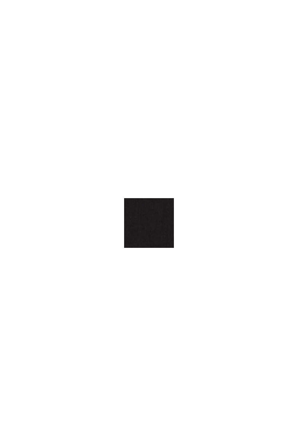 Web-Kleid mit Saum-Volant, BLACK, swatch