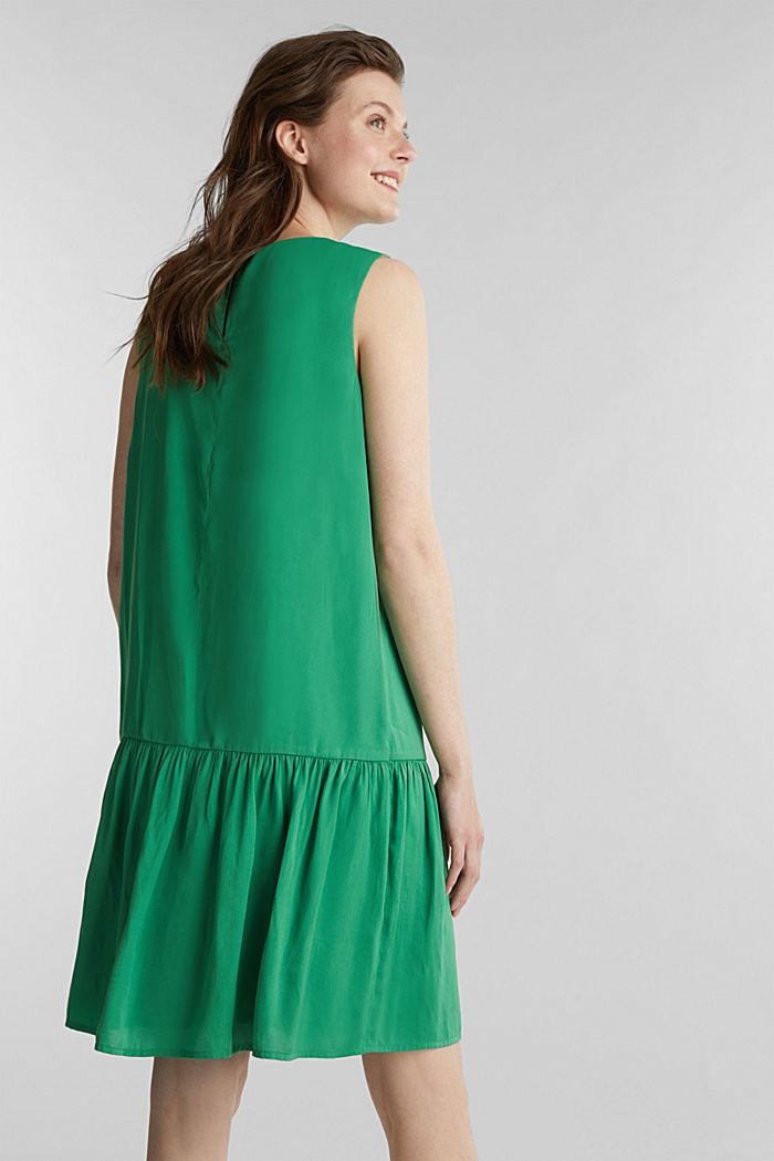 Geweven jurk met volant aan de zoom, GREEN, detail image number 2