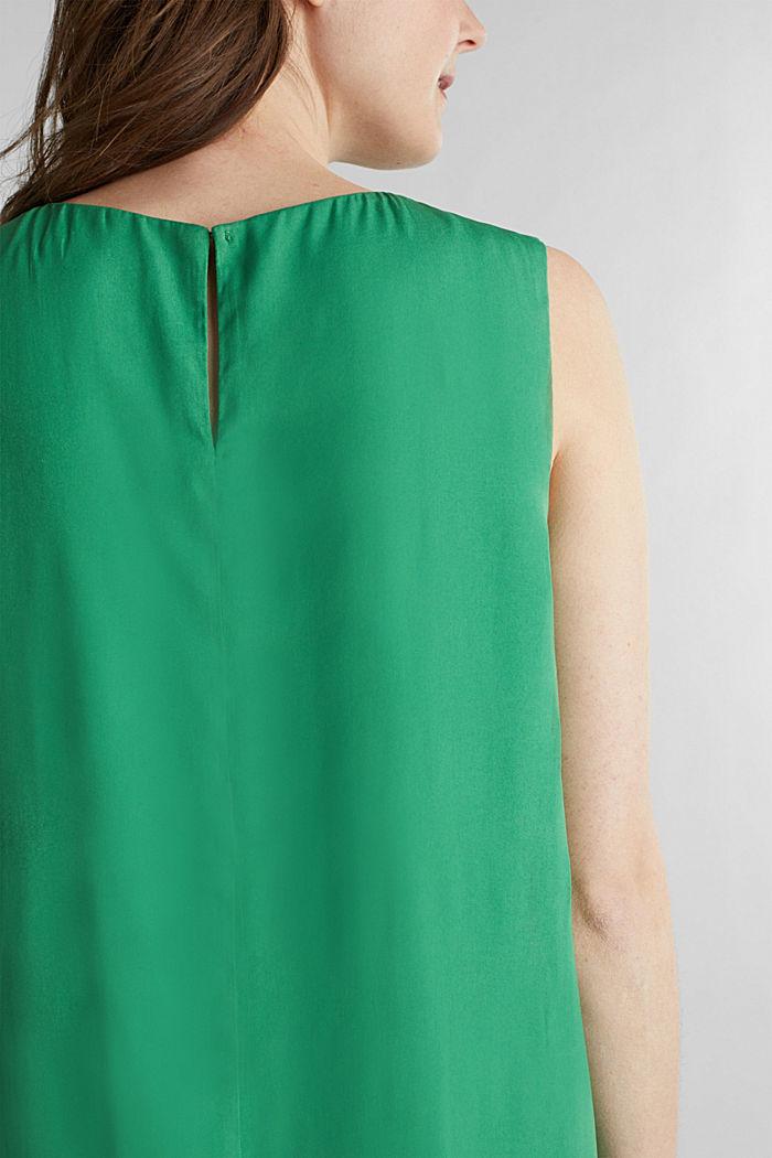 Geweven jurk met volant aan de zoom, GREEN, detail image number 3