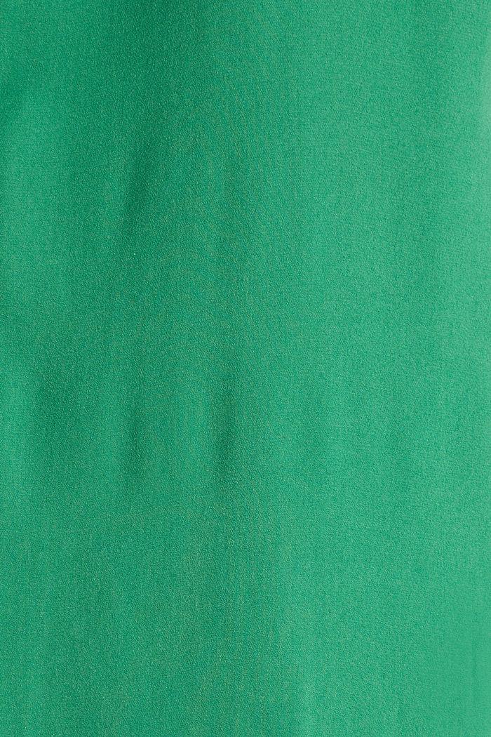 Geweven jurk met volant aan de zoom, GREEN, detail image number 4