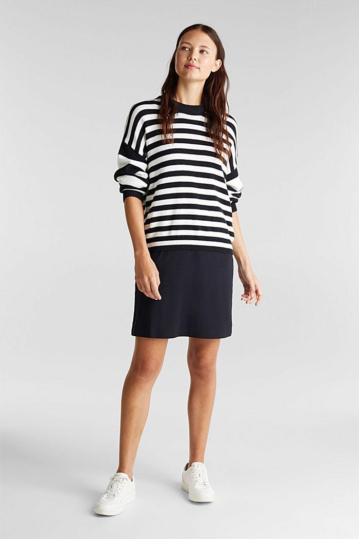Kleid aus Ripp-Jersey, BLACK, detail image number 5