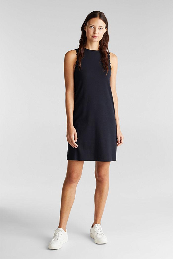 Kleid aus Ripp-Jersey, BLACK, detail image number 1
