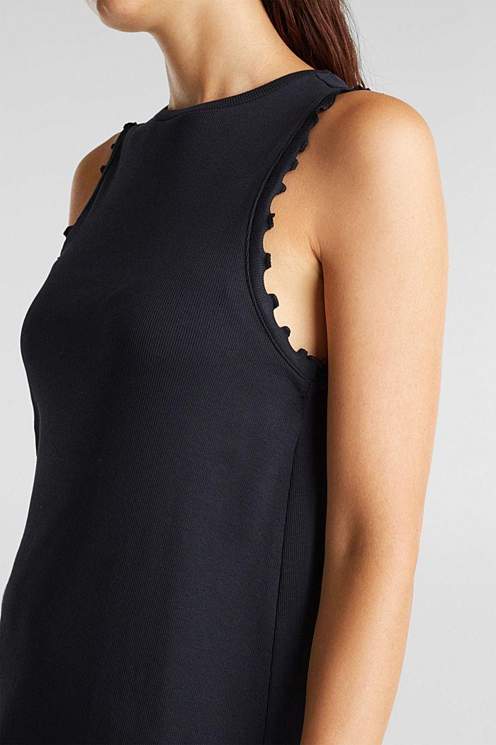 Kleid aus Ripp-Jersey, BLACK, detail image number 3