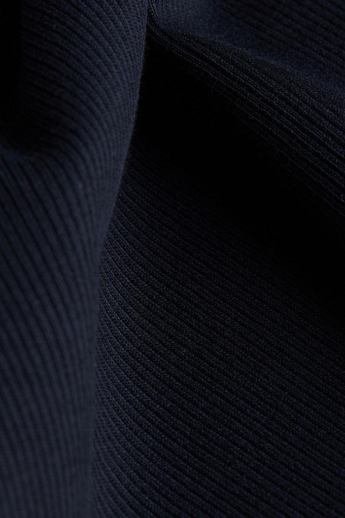 Kleid aus Ripp-Jersey, BLACK, detail image number 4