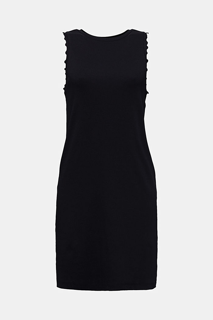 Kleid aus Ripp-Jersey, BLACK, detail image number 7