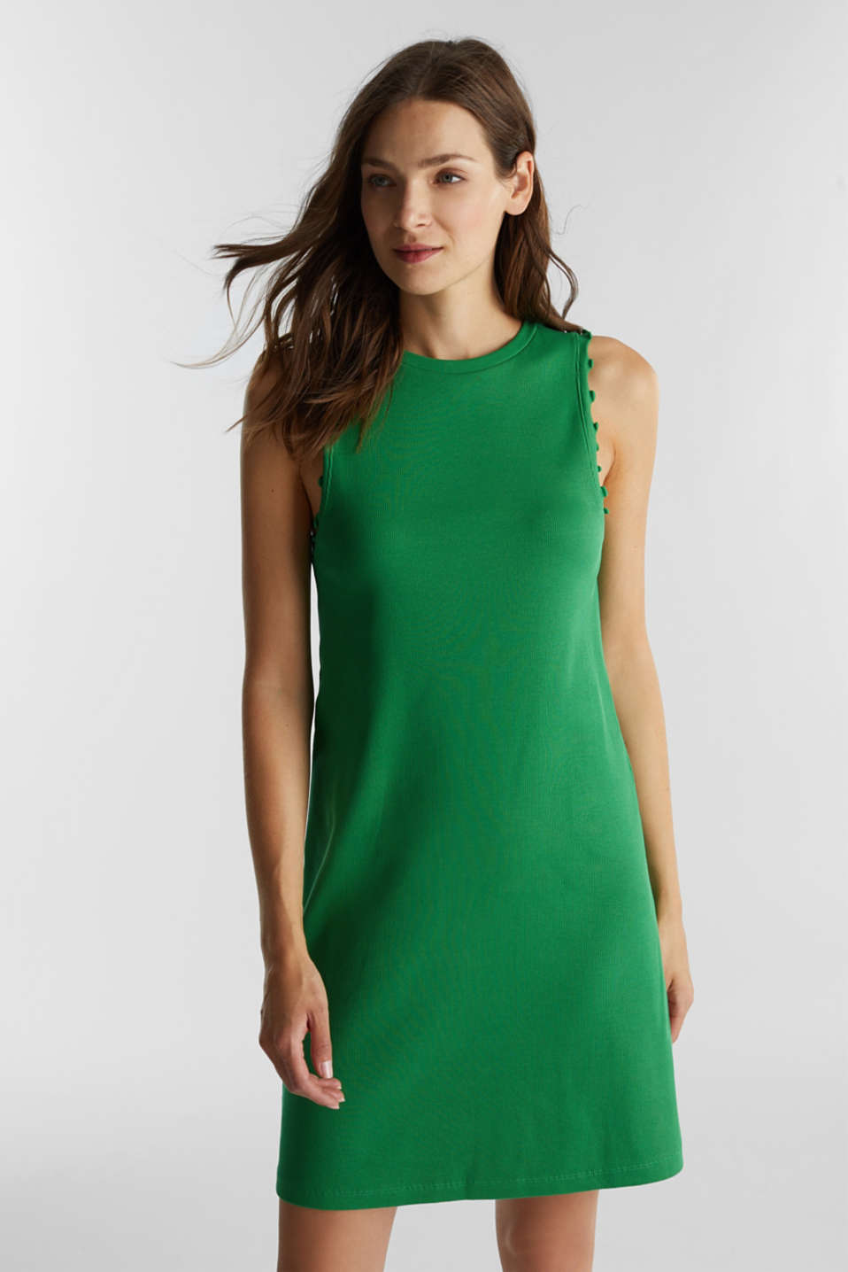 Dress made of ribbed jersey, GREEN, detail image number 0
