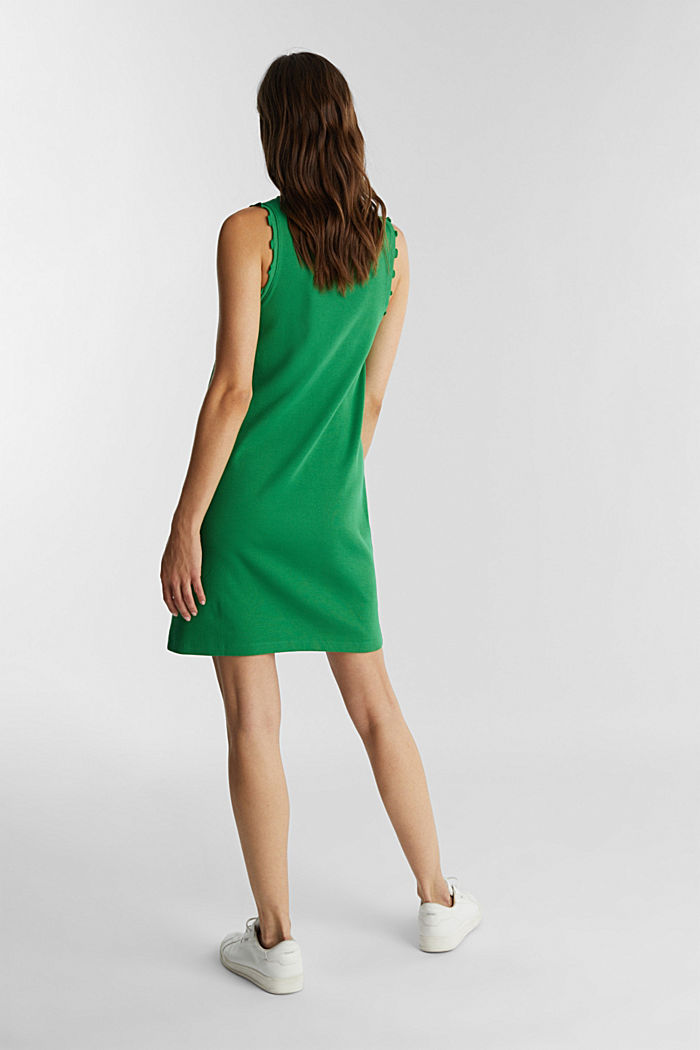 Dress made of ribbed jersey, GREEN, detail image number 2