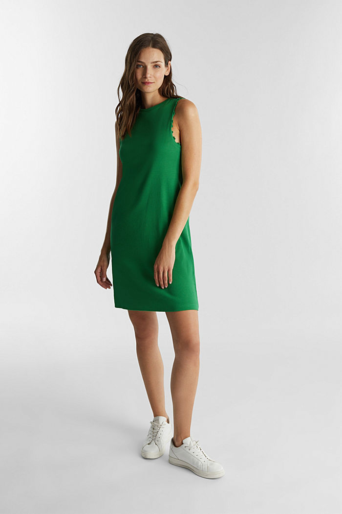 Dress made of ribbed jersey, GREEN, detail image number 1